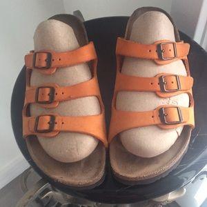 Birkenstock Canberra Leather Natural Cork Sandals